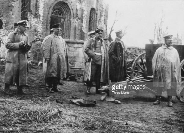 Field Marshal Paul von Hindenburg and General Erich Ludendorff on the Russian front during World War I 14th July 1915
