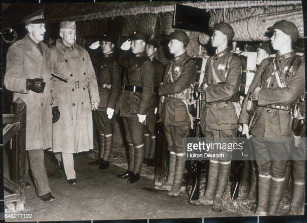 Field Marshal Sir John Dill head of the British Joint Staff Mission at Washington and Lieutenant General Henry H Arnold commanding general of the US...