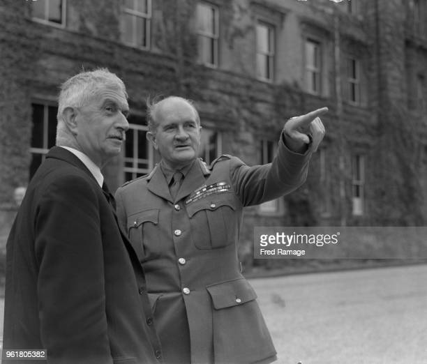 Field Marshal Sir William Slim , Chief of the Imperial General Staff, talks to James Chuter Ede , the Home Secretary, at a secret conference at the...