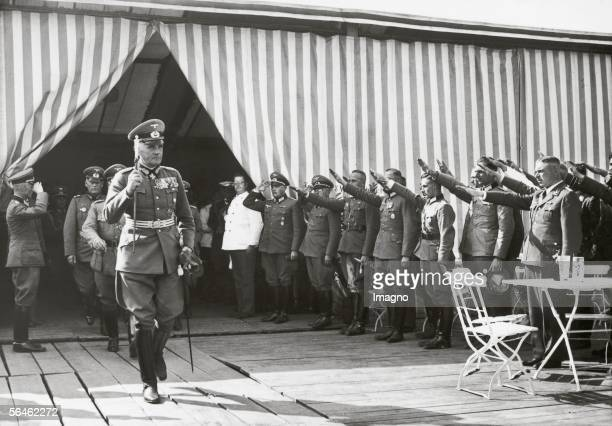 Field marshal Werner Blomberg is inspecting a storage of the German Armed Forces in Nuremberg Germany Photography 891937 [Generalfeldmarschall Werner...