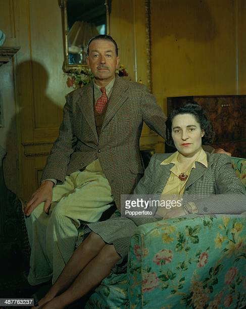 Field Marshall Harold Alexander , 1st Earl of Tunis, with his wife Margaret Alexander, in a posed portrait in their home, England, October 1945.