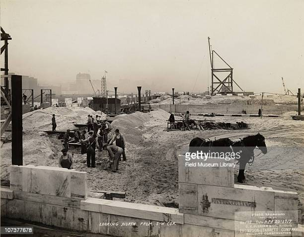 Field Museum construction site looking north from the southwest corner Chicago Illinois April 20 1917