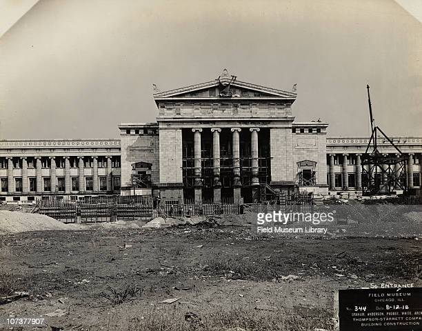 Field Museum construction site view of the south entrance Chicago Illinois August 12 1918