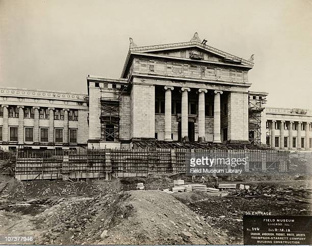 Field Museum construction site view of the south entrance Chicago Illinois September 12 1918