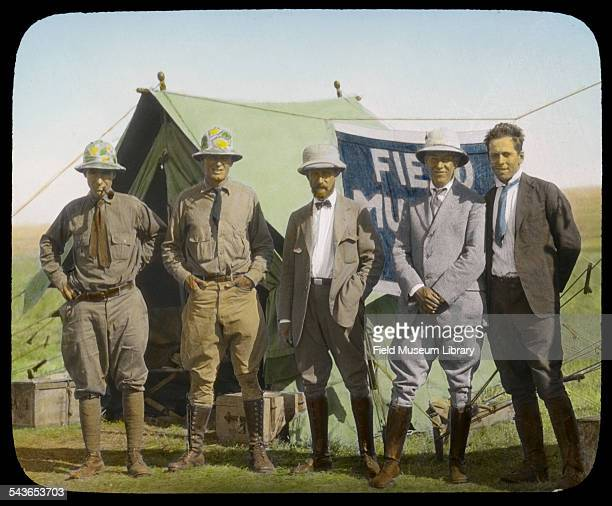 Field Museum expedition members left to right C Suydam Cutting Jack Baum Louis A Fuertes and Alfred Bailey Ethiopia 1927
