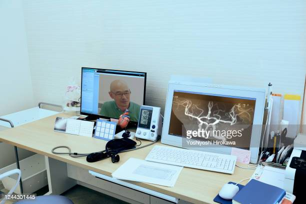 field of advanced telemedicine - arteriogram stock pictures, royalty-free photos & images