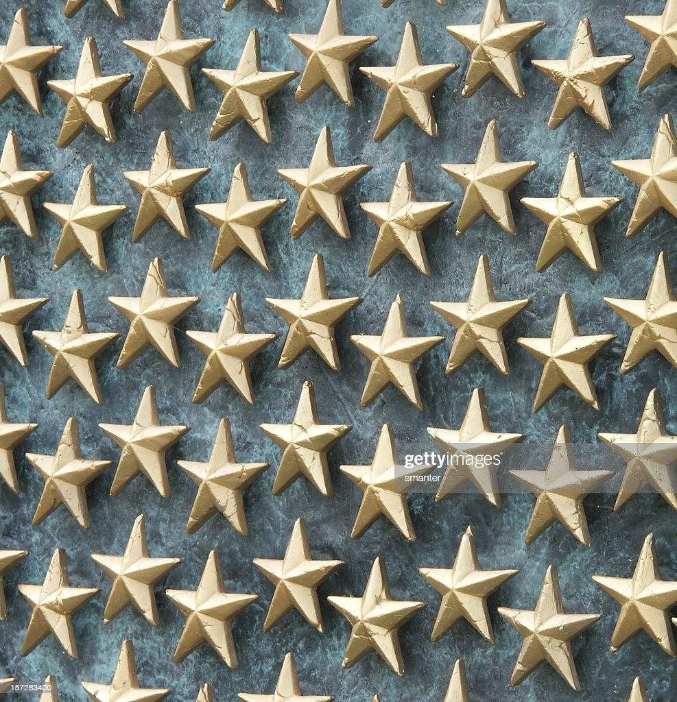 Field of Golden Stars : Stock Photo