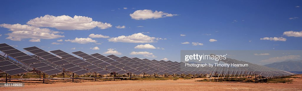 Field of Solar Panels : Stock Photo