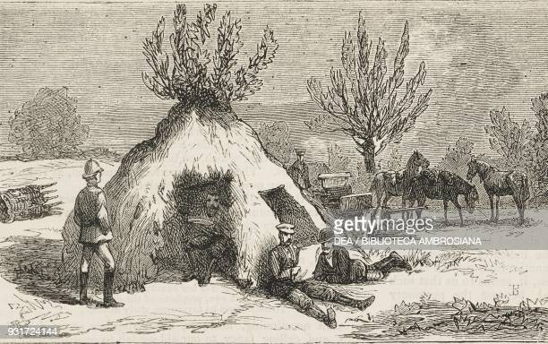 Field quarters of the Scotsman and New York Herald reporters at Pleven Bulgaria RussoTurkish War United Kingdom illustration from the magazine The...
