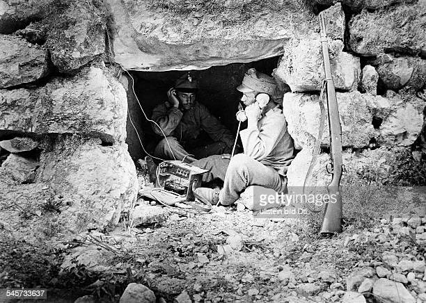 Field telephone of the AustroHungarian army on Mount Rombon