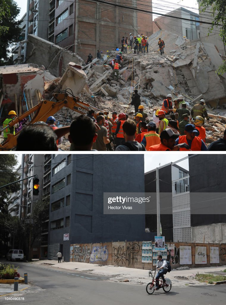 Views of Mexico City 1 year After September 19th Earthquake