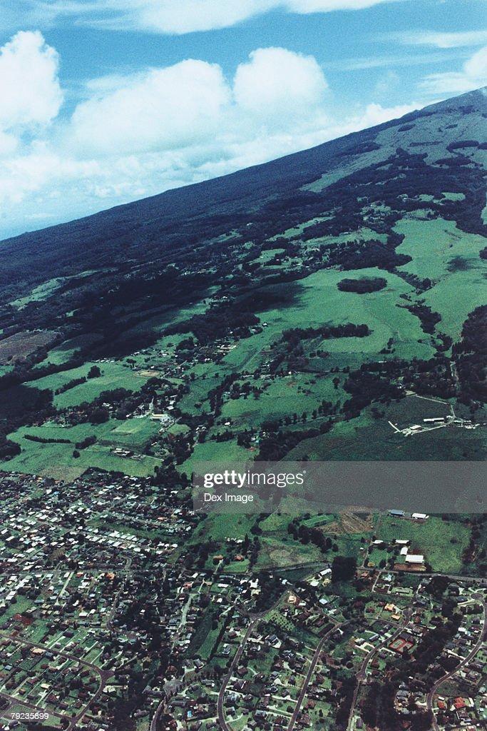 Fields and land, Maui, Hawaii : Stock Photo