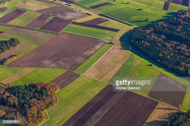 Fields and woodland at Swabian Alb, Germany