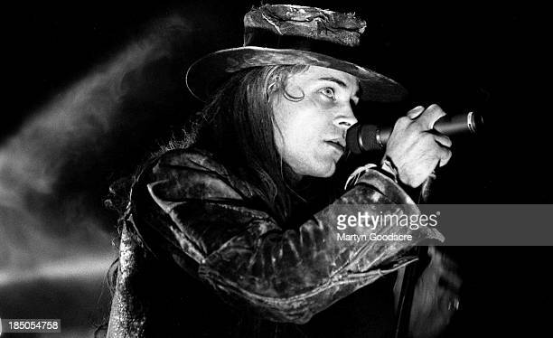 Fields of the Nephilim perform on stage United Kingdom 1990