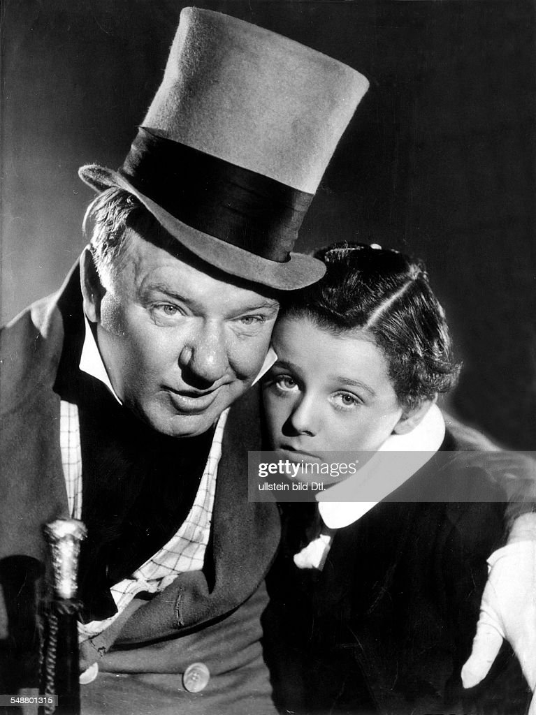 Fields, W. C. - Actor, USA - *29.01.1880-25.12.1946+ Scene from the movie 'The Personal History, Adventures, Experience, & Observation of David Copperfield the Younger' with Fred Bartholomew Directed by: George Cukor USA 1936 Film Production: Metro-G : News Photo