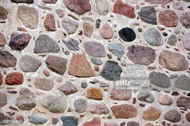 Fieldstone walls shape the exterior view of the village church of Benz Germany 18 June 2016 The church on the Baltic Sea island of Usedom was...