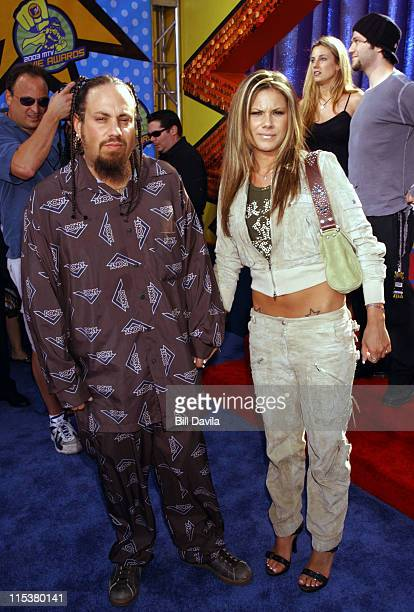Fieldy of Korn and guest during 2003 MTV Movie Awards Arrivals at The Shrine Auditorium in Los Angeles California United States