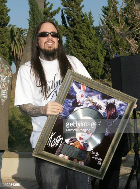 Fieldy of KORN during Korn Press Conference to Announce Their 'See You On the Other Side' Tour at Hollywood Forever Cemetery in Hollywood California...