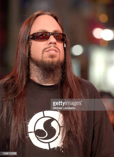 Fieldy of Korn during Korn Visits MTV's 'TRL' November 28 2005 at MTV Studios Times Square in New York City New York United States