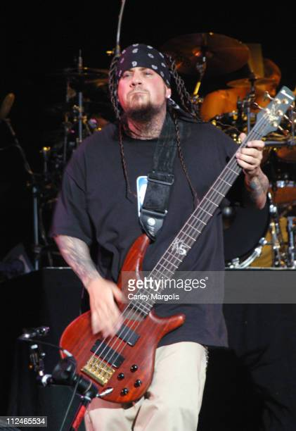 Fieldy of Korn during Linkin Park's 'Projekt Revolution 2004' August 2 2004 at Jones Beach Theater in Wantagh New York United States