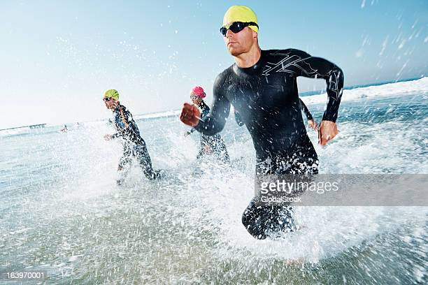 fierce competitor - triathlon stock photos and pictures