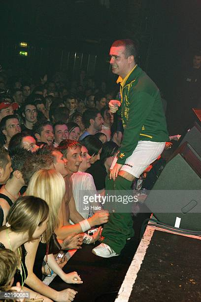 Fierce Girl support pop star Natasha Bedingfield during popular gay night GAY at the Astoria on February 12 2005 in London