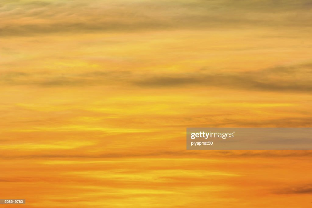 Fiery orange sunset sky : Stock Photo