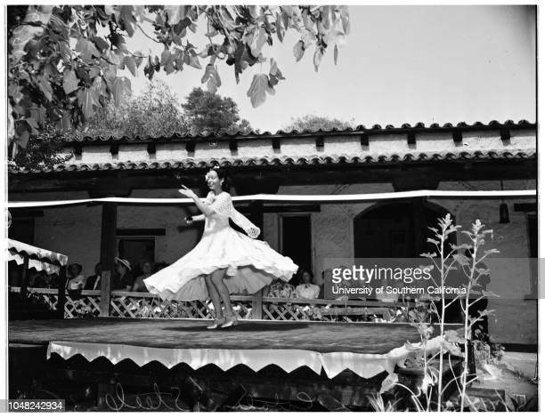Fiesta of the Casa de Adobe 04 May 1952 Mrs Catalina Steele 38 years Monterey Park Los Angeles California USA