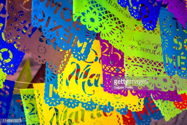 a fiesta of vibrant colors - mexican fiesta stock pictures, royalty-free photos & images