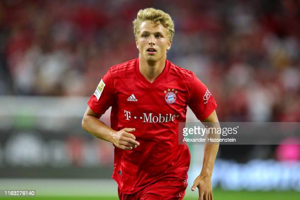 Fiete Arp of Bayern Muenchen runs during the International Champions Cup match between Bayern Muenchen and Real Madrid in the 2019 International...