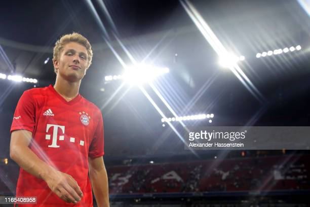 Fiete Arp of Muenchen looks on after for the Audi Cup 2019 semi final match between FC Bayern Muenchen and Fenerbahce at Allianz Arena on July 30,...