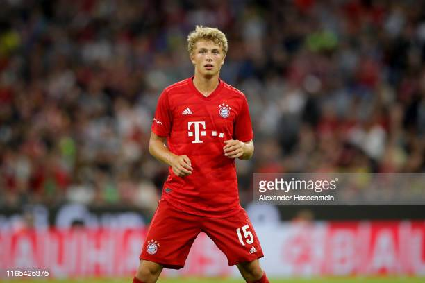 Fiete Arp of Muenchen looks on during the Audi Cup 2019 final match between Tottenham Hotspur and Bayern Muenchen at Allianz Arena on July 31 2019 in...