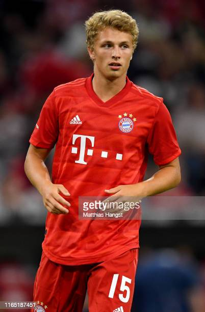Fiete Arp of Muenchen looks on during the Audi Cup 2019 semi final match between FC Bayern Muenchen and Fenerbahce at Allianz Arena on July 30, 2019...