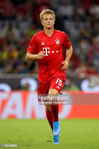 Fiete Arp of Muenchen runs during the Audi cup 2019 semi final match between FC Bayern Muenchen and Fenerbahce at Allianz Arena on July 30 2019 in...