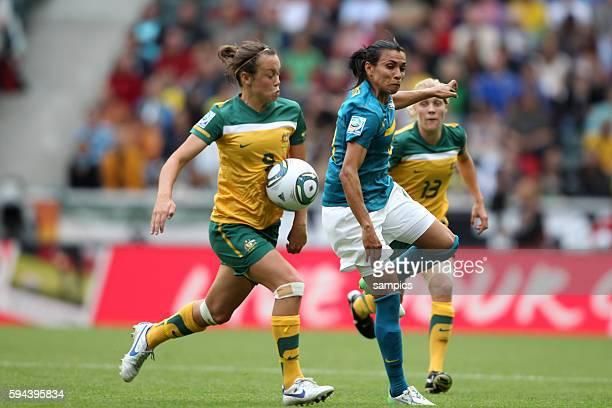 vl Vattlin Foord gegen Marta Gruppe D Brasilien Australien 10 FifA Frauen Fussball WM Weltmeisterschaft 2011 in Deutschland FIFA women football world...