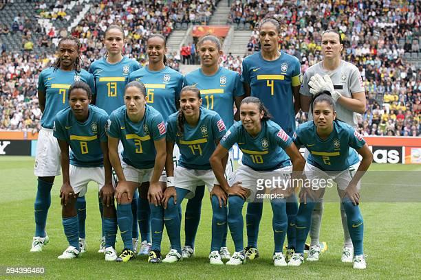 Mannschaft Brasilien Gruppe D Brasilien Australien 10 FifA Frauen Fussball WM Weltmeisterschaft 2011 in Deutschland FIFA women football world cup...