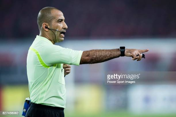 Fifa Referee Ali Sabah Al-Qaysi of Iraq during the AFC Champions League 2017 Group G match between Guangzhou Evergrande FC vs Suwon Samsung Bluewings...