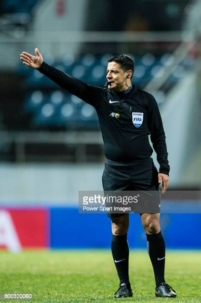 Fifa Referee Alireza Faghani of Iran during the AFC Champions League 2017 Group H match between Jeju United FC vs Jiangsu FC at the Jeju World Cup...