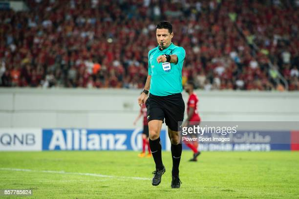 Fifa Referee Alireza Faghani of Iran in action during the AFC Champions League 2017 QuarterFinals match between Guangzhou Evergrande vs Shanghai SIPG...