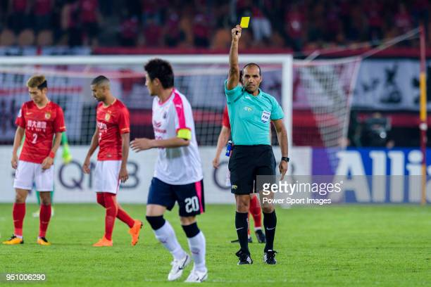 Fifa Referee Nawaf Shukralla during the AFC Champions League 2018 Group G match between Guangzhou Evergrande FC vs Cerezo Osaka at Tianhe Stadium on...