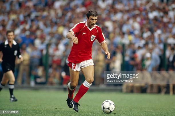 Fifa World Cup 21 June 1982 Algeria v Austria Hans Krankl of Austria