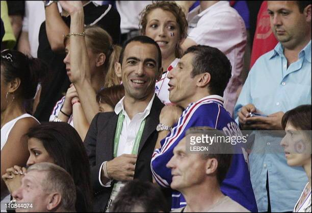 Fifa World Cup Germany 2006 Brazil/France 01 In Frankfurt Germany On July 012006 Youri Djorkaeff and Naguy