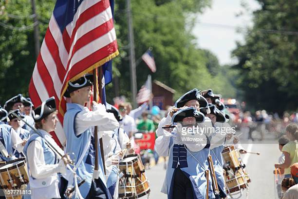 Fife and Drum Corps Marching in July 4th Parade