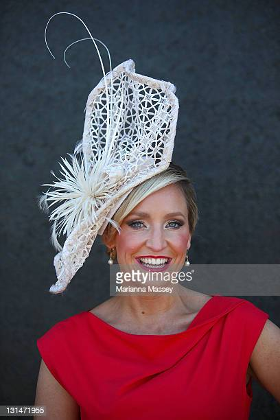 Fifi Box at the Swisse marquee during Emirates Stakes Day at Flemington Racecourse on November 5 2011 in Melbourne Australia
