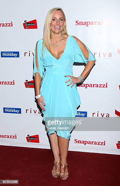 Fifi Box attends the Sunday Herald Sun Snaparazzi Spring Racing Party at Riva on October 23 2009 in Melbourne Australia