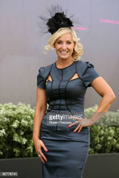 Fifi Box poses during Crown Oaks Day as part of the 2009 Melbourne Cup Carnival at Flemington Race Course on November 5 2009 in Melbourne Australia