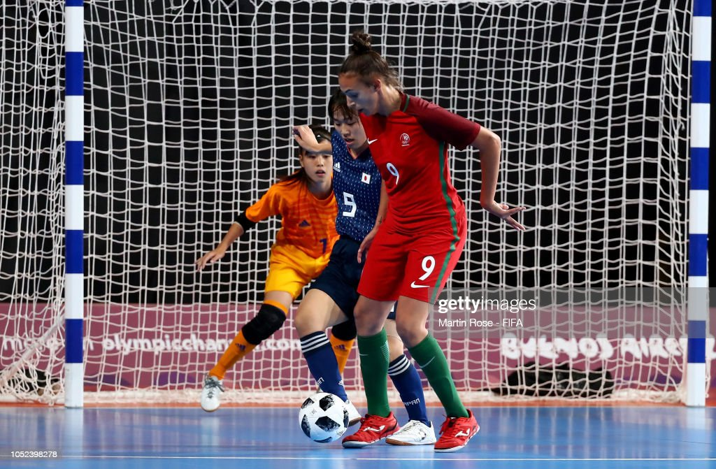 Portugal v Japan: Women's Futsal Final - Buenos Aires Youth Olympics 2018 : News Photo