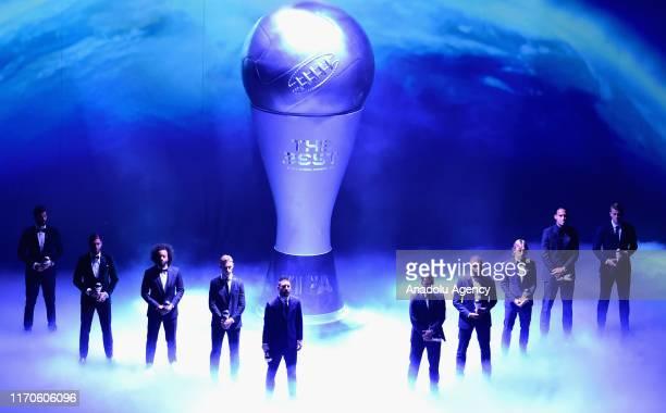 FIFPro Men's World 11 Players of the Year Alisson Sergio Ramos Marcelo Vieira Lionel Messi Frenkie de Jong Eden Hazard Kylian Mbappe Luka Modric...