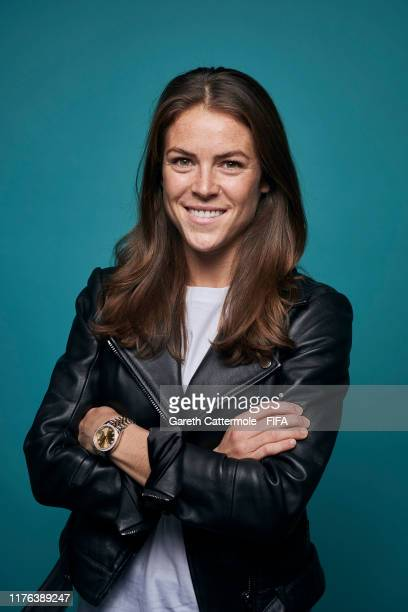 FIFPro Women's World11 Finalist Kelley O'Hara of USA poses for a portrait at Excelsior Hotel Gallia prior to The Best FIFA Football Awards 2019 on...