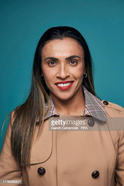 FIFPro Women's World11 Finalist Marta Vieira da Silva of Brazil poses for a portrait at Excelsior Hotel Gallia prior to The Best FIFA Football Awards...